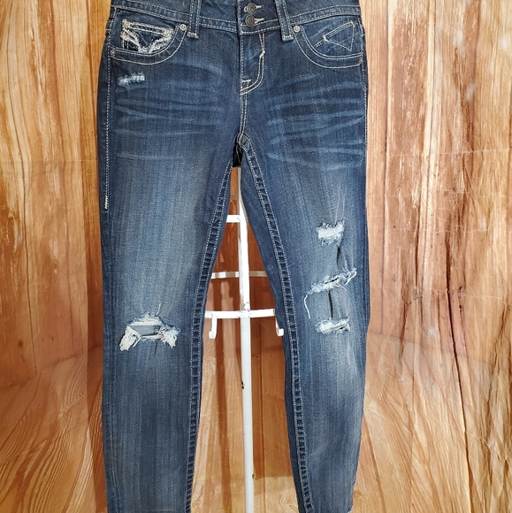 Vigoss Denim - Vigoss The Chelsea Skinny Distressed Jeans Sz 5/6